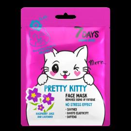 7 DAYS ANIMAL Pretty Kitty Sheet Mask 28g