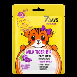 7 DAYS ANIMAL Wild Tiger Sheet Mask 28g
