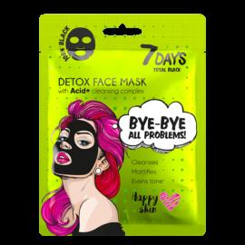 7 DAYS BLACK Bye-Bye, Skin Problems Sheet Mask 25g