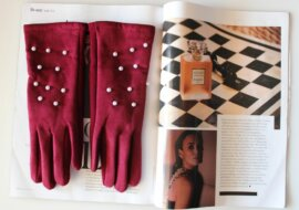 PEARL RED WINE GLOVES