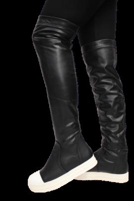 BLACK N WHITE BOOTS