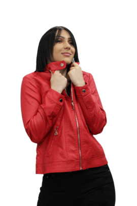 LEATHER JACKET RED BIG SIZE