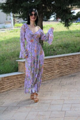 FLORAL DRESS LILA