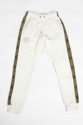 MAGICBEE GOLD TAPE PANTS WHITE