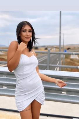 WHITE METALIZED DRESS