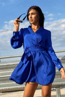 DRESS SATEN BLUE