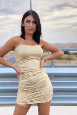 METALIZED DRESS GOLD