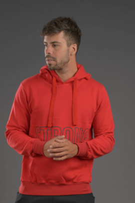 HOODIE STRONG RED